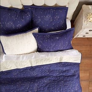 Anthropologie Cosmos constellation euro sham